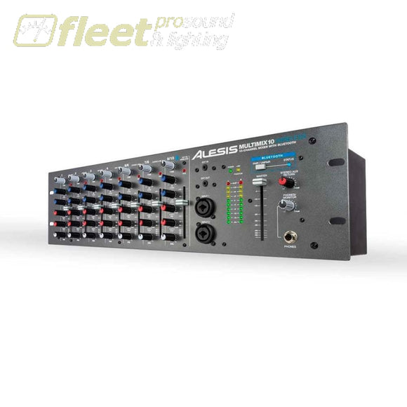 Alesis Multimix10W Wireless Rackmount 10-Channel Mixer With Bluetooth Mixers Under 24 Channel