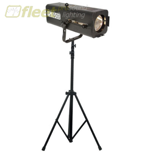 American Dj Fs-1000/sys 575W Halogen Followspot With Lts-6 Tripod Stand Followspots