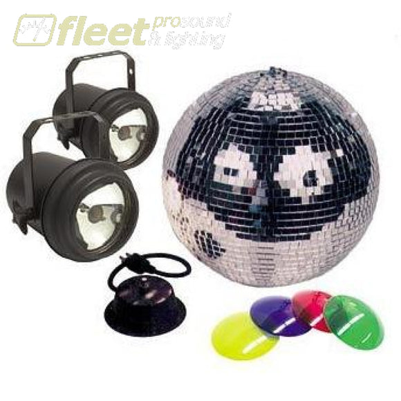 American DJ M-502L 12 Mirror Ball Combo with Pinspots 2x Lamps Mirror Ball Motor and 4x Colour Gels MIRROR BALLS