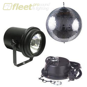 American Dj M-600L 16 Mirror Ball Combo With A/c Motor Ul Pinspot With Lamp Mirror Balls