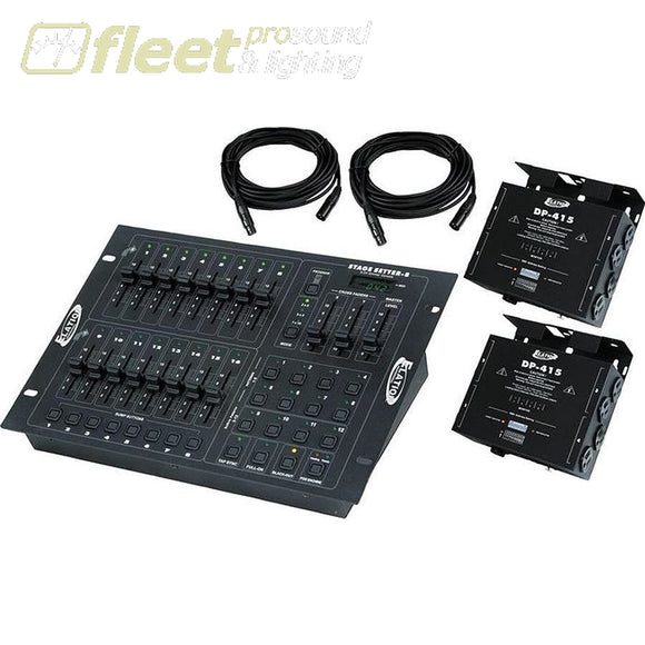 American Dj Stage Pak 1 - Stage-Setter-8 Controller With 2X Dp-415 Dimmers & Cables Dmx Distribution