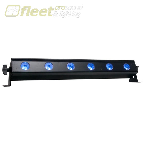American DJ UB-6H 22.5-inch linear fixture powered by six 6W-Watt HEX RGBWA+UV (6-IN-1) LEDs. LED BARS & PANELS