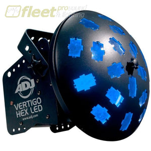 American Dj Vertigo Hex Led Powered By Two 12-Watt 6-In-1 Technology Effects