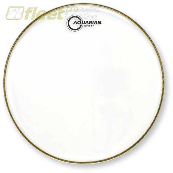 Aquarian S2-14 Super-2 Clear 14 Drum Head Drum Skins