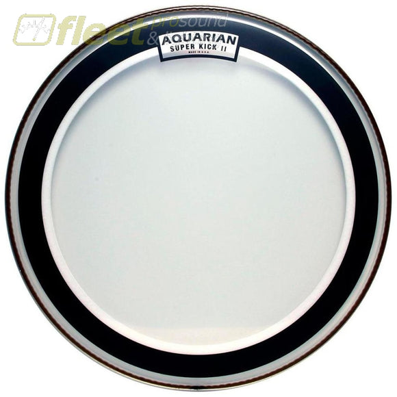Aquarian Skii22 Superkick 2 Clear 22 2-Ply Bass Drum Batter Head Drum Skins