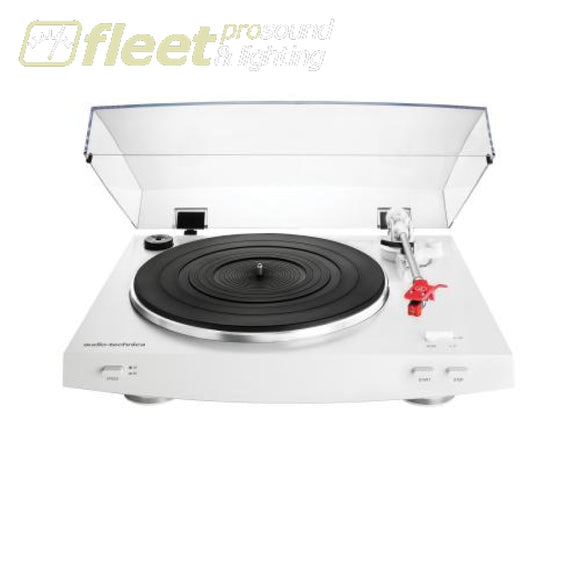 Audio Technica At-Lp3Wh Fully Automatic Belt-Drive Stereo Turntable - White Belt Drive Turntables