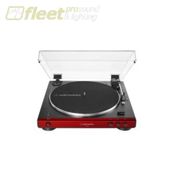Audio Technica AT-LP60XBT-RD Fully Automatic Wireless Belt-Drive Turntable BELT DRIVE TURNTABLES