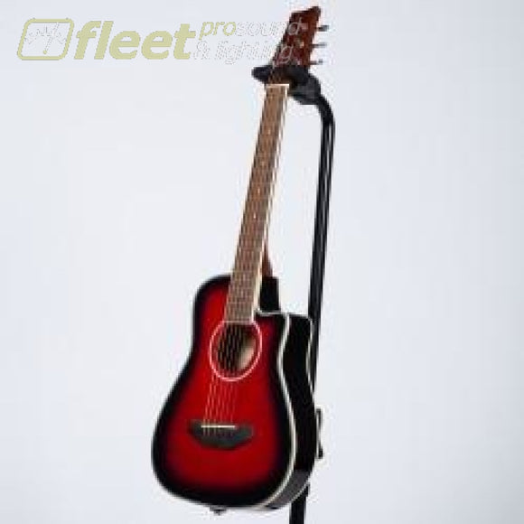BeaverCreek BCTD401TR 1/2 Size Acoustic Guitar - Red 6 STRING ACOUSTIC WITHOUT ELECTRONICS