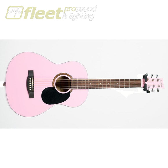 Beavercreek Bctd601 3/4 Size Acoustic Guitar Pink 6 String Acoustic Without Electronics