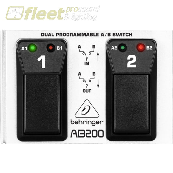 Behringer AB200 Ultra-Flexible Duel Programmable Footswitch FOOT SWITCHES