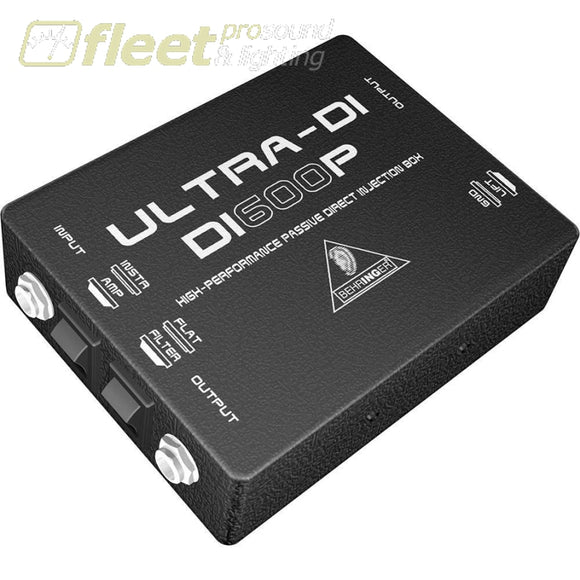 Behringer Di600P Ultra-Di Passive Direct Injection Box Di Boxes