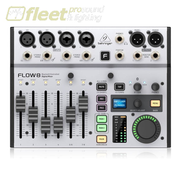 Behringer FLOW 8 8-Input Digital Mixer with Bluetooth Audio and App Control DIGITAL MIXERS