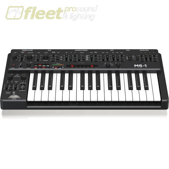 Behringer MS-1-BK Analog Synthesizer - Black KEYBOARDS & SYNTHESIZERS