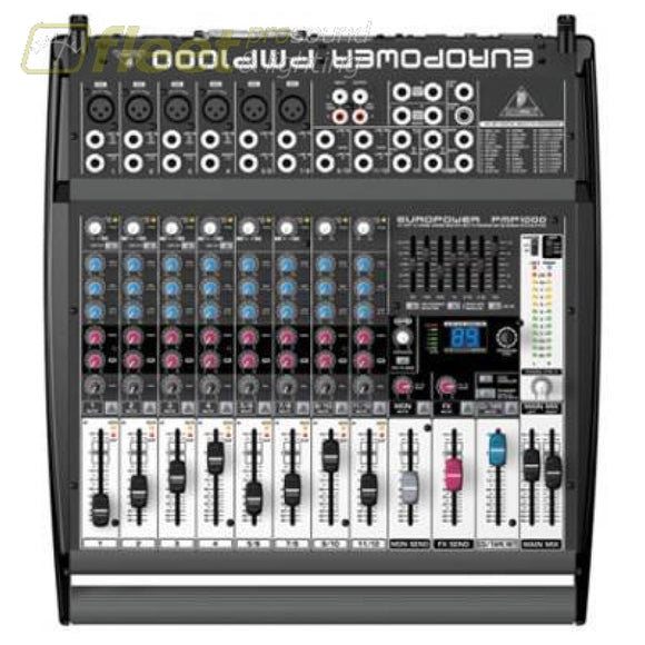 Behringer PMP1000 - 500-Watt 12-Channel Powered Mixer POWERED MIXERS