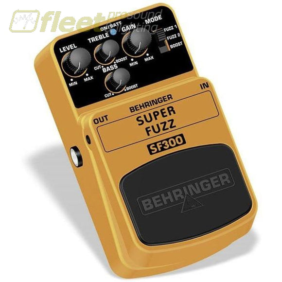 Behringer Sf300 Super Fuzz Effect Pedal Guitar Distortion Pedals