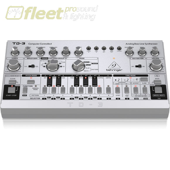 Behringer TD-3-SR Analog Bass Line Synthesizer w/ VCO VCF 16-Step Sequencer Distortion Effects and 16-Voice Poly Chain KEYBOARDS &