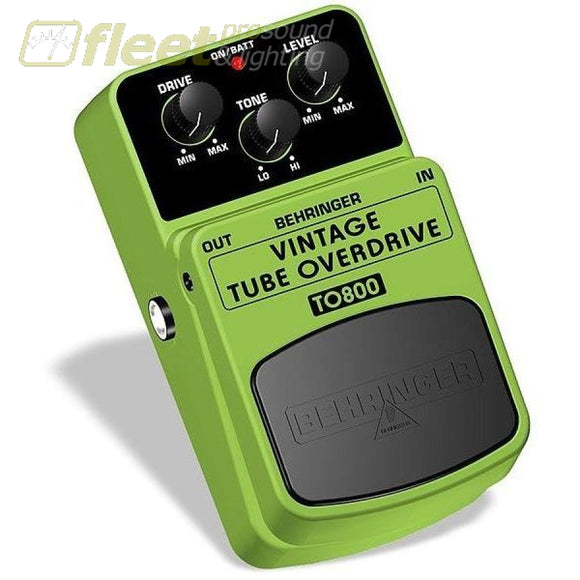 Behringer To800 Vintage Overdrive Effect Pedal Guitar Distortion Pedals