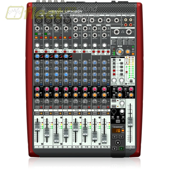 Behringer Ufx1204 12-Input 4-Bus Mixer With 16X4 Usb/firewire Interface Mixers Under 24 Channel