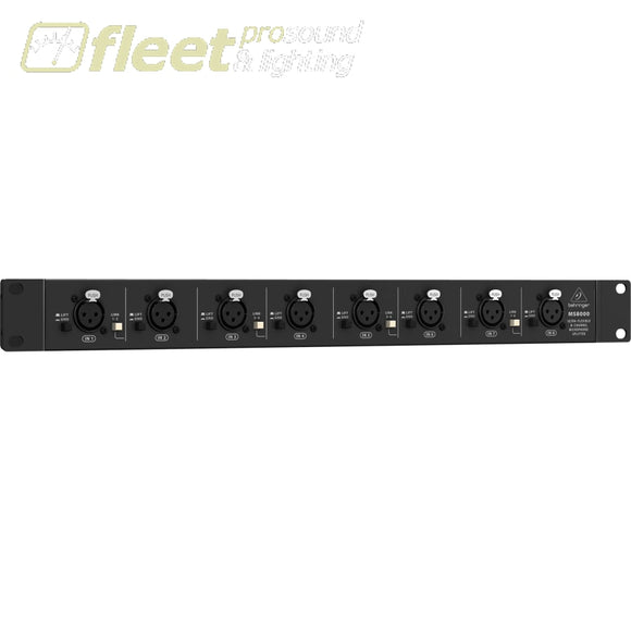 Behringer Ultralink Ms8000 8-Channel Microphone Splitter Distribution Mixers