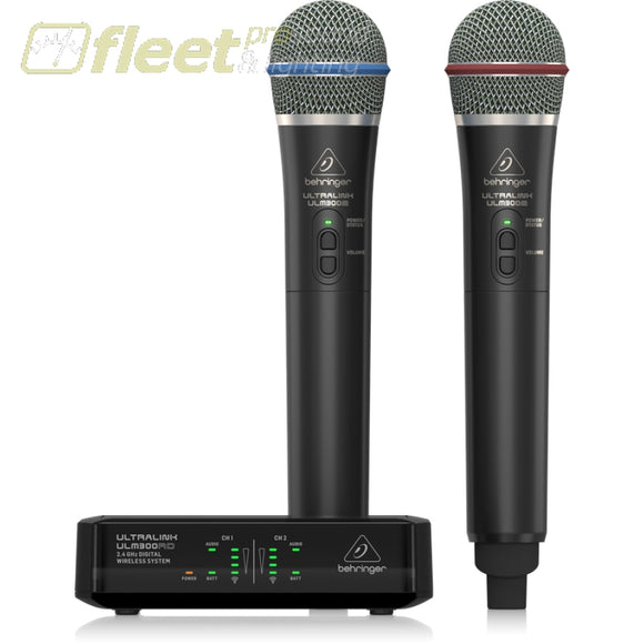 Behringer Ultralink Ulm302Mic Wireless Microphone System - 2 Mics Hand Held Wireless Systems