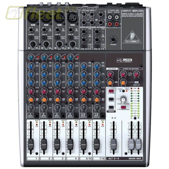 Behringer XENYX 1204USB - 12-Input USB Audio Mixer MIXERS UNDER 24 CHANNEL