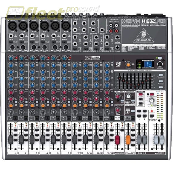 Behringer Xenyx X1832Usb Mixer ***price Listed Is For One Day Rental. Rental Mixers