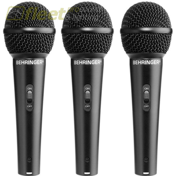 Behringer XM1800S 3 Pack of Dynamic Microphones VOCAL MIC KITS