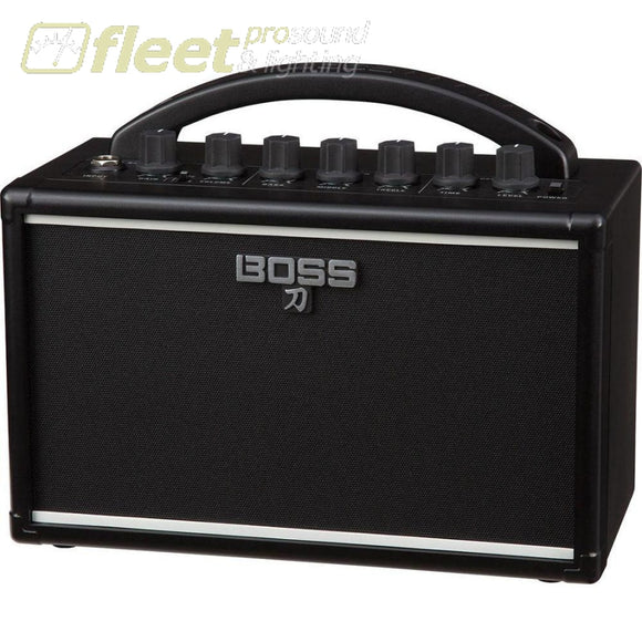 Boss Ktn-Mini Katana-Mini 7W 1X4 Battery-Powered Combo Amplifier For Electric Guitar Guitar Combo Amps
