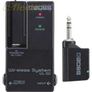 Boss WL-50 Wireless System for Pedalboards WIRELESS INSTRUMENT SYSTEMS