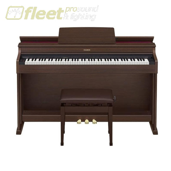 Casio AP470BN 88-Key Digital Piano - Brown w/ Cabinet & Bench DIGITAL PIANOS