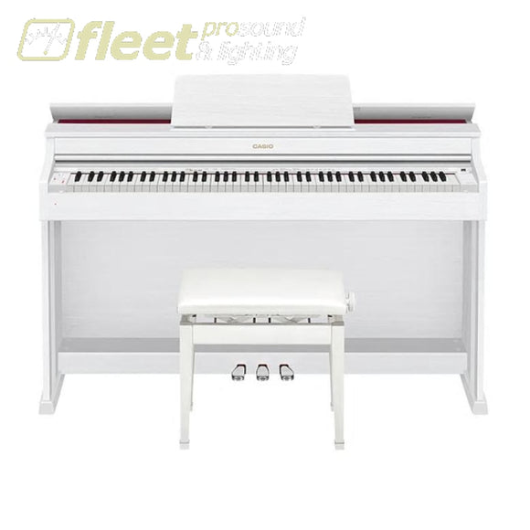 Casio AP470WE 88-Key Digital Piano - White w/ Cabinet & Bench DIGITAL PIANOS