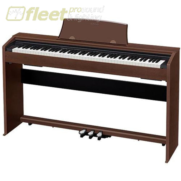 Casio PX770BN Privia 88-Key Digital Piano - Brown w/ Cabinet Stand & Pedals DIGITAL PIANOS