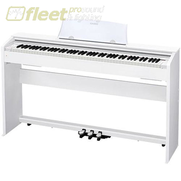 Casio PX770WE Privia 88-Key Digital Piano - White w/ Cabinet Stand & Pedals DIGITAL PIANOS