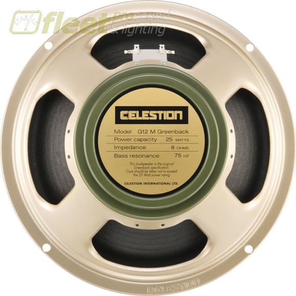 Celestion G12M-25-Gb-8 Greenback Re-Issue 12 Guitar Speaker 8 Ohm (T1220) Guitar Speakers