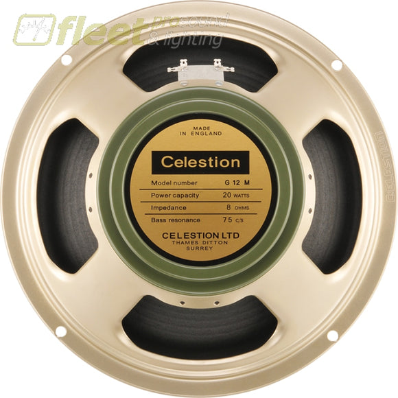 Celestion Heritage G12M Greenback 12 Guitar Speaker 20 Watt 8 Ohm T1220-67 Guitar Speakers