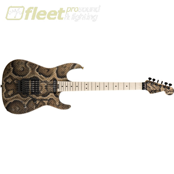 Charvel 2869197000 Warren DeMartini USA Signature Maple Fingerboard Guitar - Snakeskin SOLID BODY GUITARS