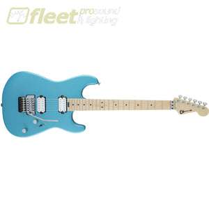 Charvel 2965131534 Pro-Mod Sans Dimas Style 1 HH FR M QM Maple Fingerboard - Matte Blue Frost LOCKING TREMELO GUITARS