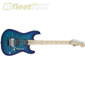 Charvel 2965131599 Pro-Mod Sans Dimas Style 1 HH FR M QM Maple Fingerboard - Chlorine Burst LOCKING TREMELO GUITARS