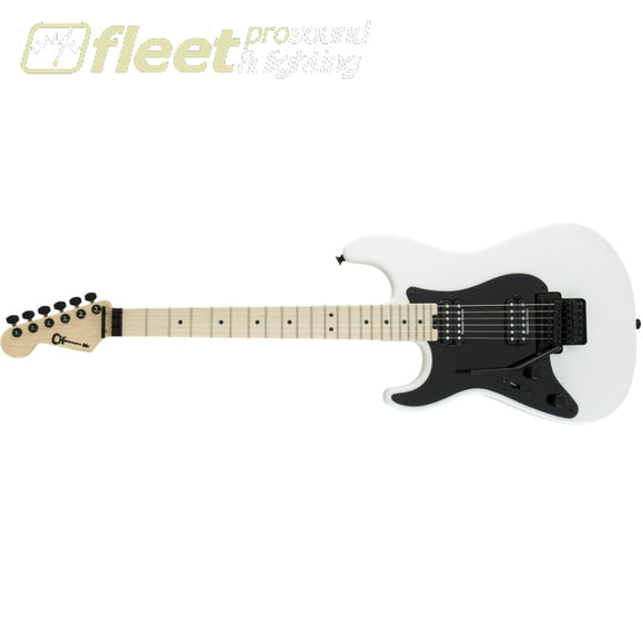 Charvel 2968101576 Pro-Mod SO-CAL Style 1 HH FR M LH Maple Fingerboard Left Handed Guitar -Snow White LEFT HANDED ELECTRIC GUITARS