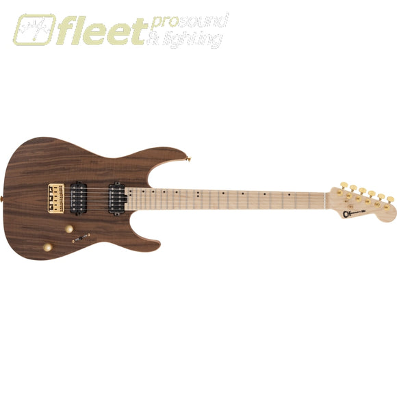 Charvel Pro-Mod DK24 HH HT M Mahogany with Figured Walnut Maple Fingerboard Guitar - Natural (2969471557) SOLID BODY GUITARS