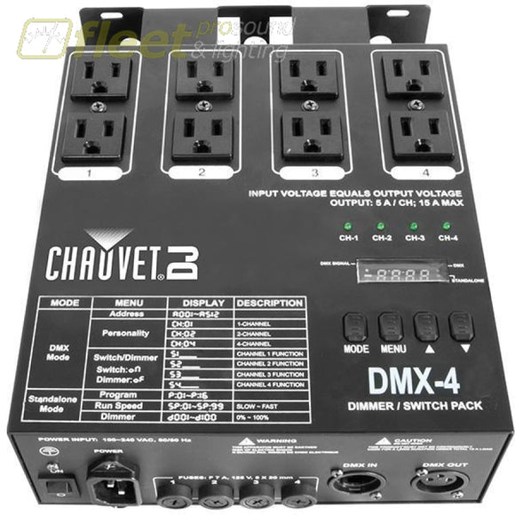 Chauvet Dmx-4 Controller ***price Listed Is For One Day Rental. Rental Light Dimmers