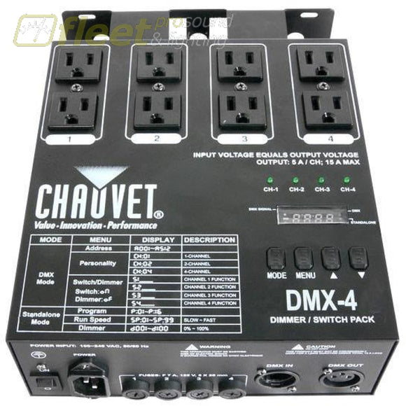 Chauvet Dmx-4 Dimmer Relay Pack Dimmers