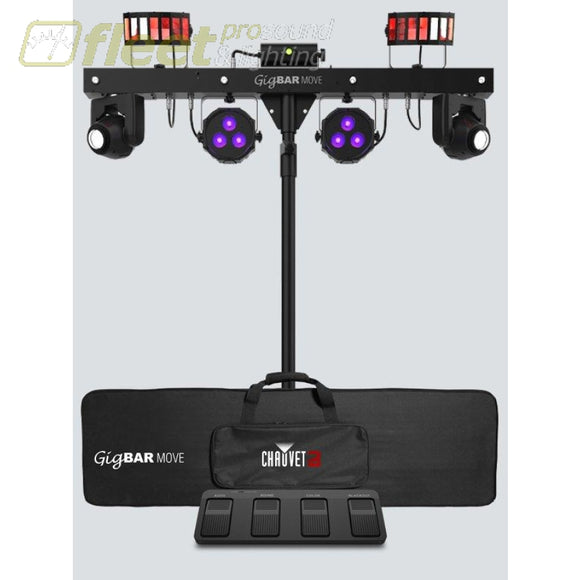 Chauvet GIGBAR-MOVE 5-in-1 Lighting System w/ Moving Heads Washlights Lasersr and more STAGE LIGHT PACKAGES