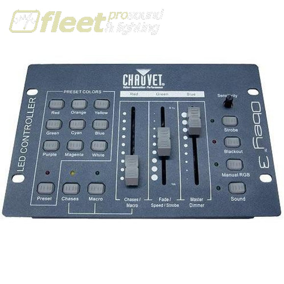 Chauvet Obey 3 - 3-Channel Dmx Controller Rgb + Presets Light Boards