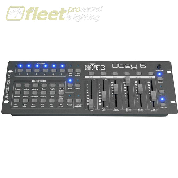 Chauvet Obey 6 - 36-Channel Dmx Controller Rgbawuv + Presets Light Boards