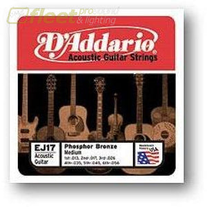 Daddario Acoustic Strings - Ej17 Guitar Strings
