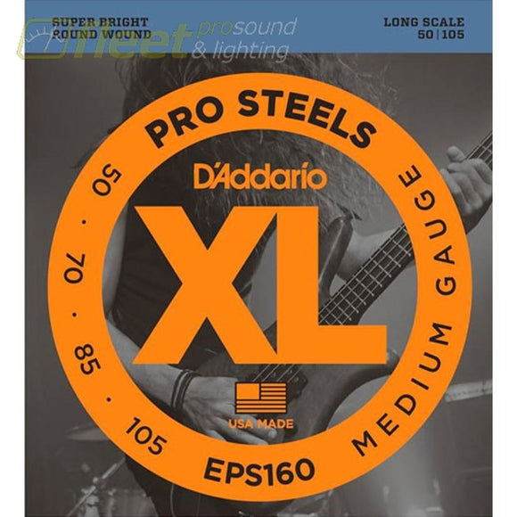 Daddario Eps160 Prosteels Bass Medium 50-105 Long Scale Bass Strings
