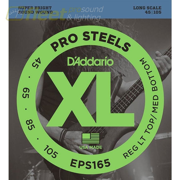 Daddario Eps165 Prosteels Bass Custom Light 45-105 Long Scale Bass Strings