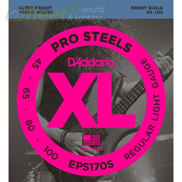 Daddario Eps170S Prosteels Bass Light 45-100 Short Scale Bass Strings