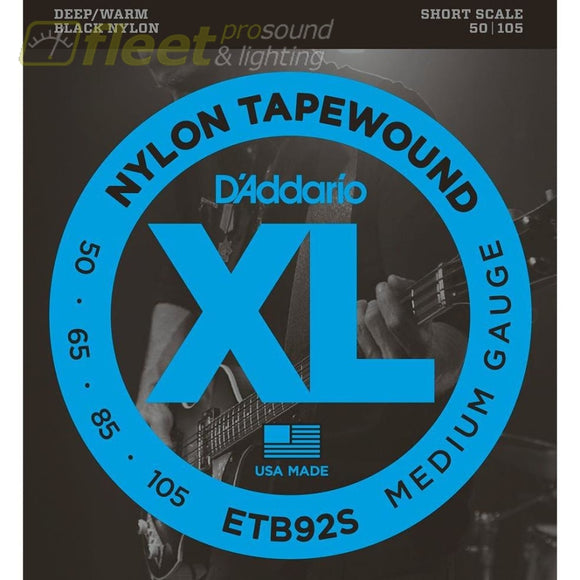 Daddario Etb92S Tapewound Bass Medium 50-105 Short Scale Bass Strings